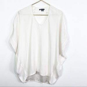 Vince Cocoon Dolman Silk Blouse Oversized Small